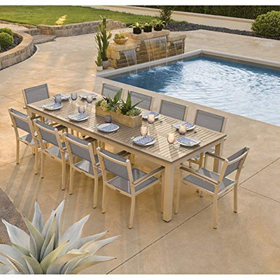 Oxford Garden 5889 Travira Furniture Set, Powder Coat Flint