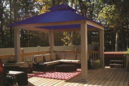 ACACIA 12ft x 12ft Gazebo Classic Royal Blue OutDura Canopy