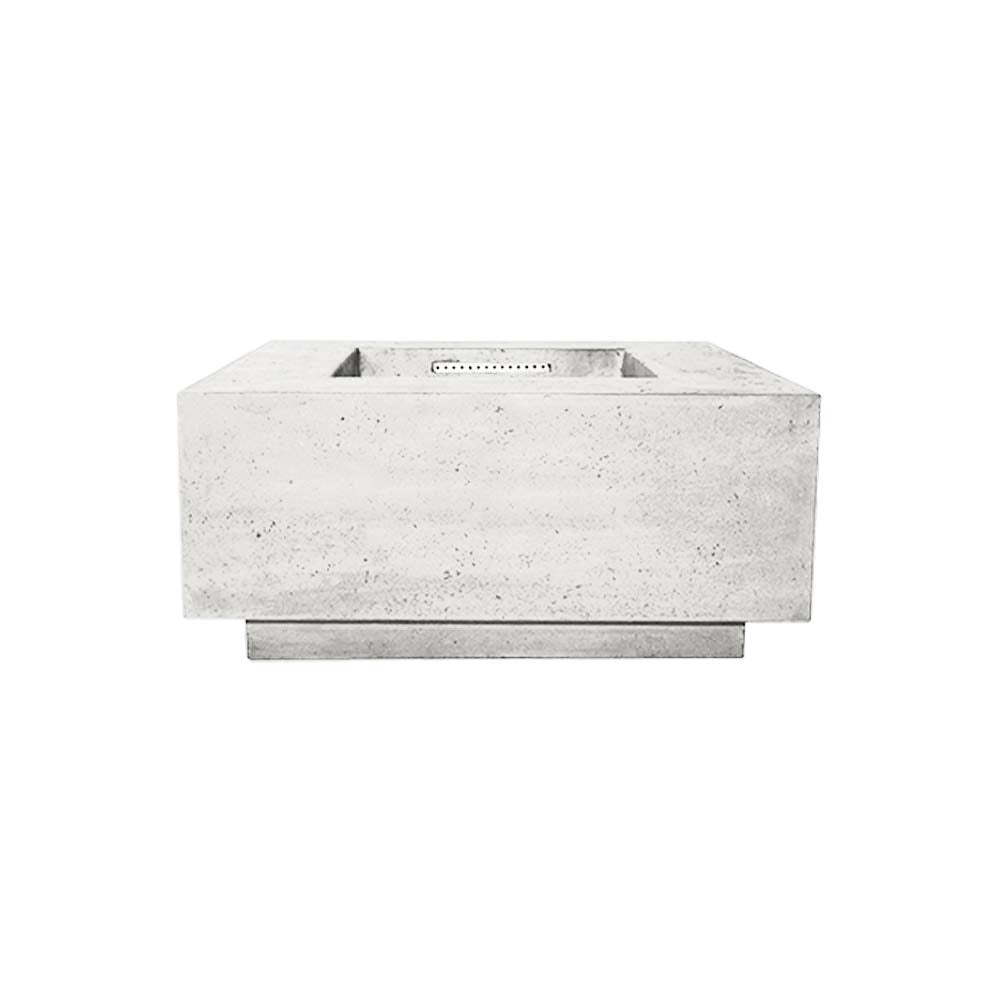 Prism Hardscapes Tavola 2 Electronic Ignition Concrete Gas Fire Pit (PH-406-5LP-WBECS), Propane, Ultra White, 36x36-Inch
