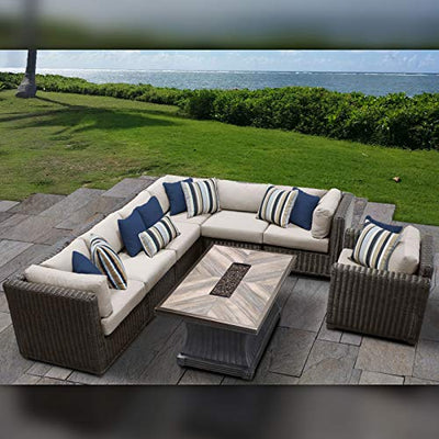 TK Classics VENICE-08i-BEIGE Venice Seating Patio Furniture, Beige