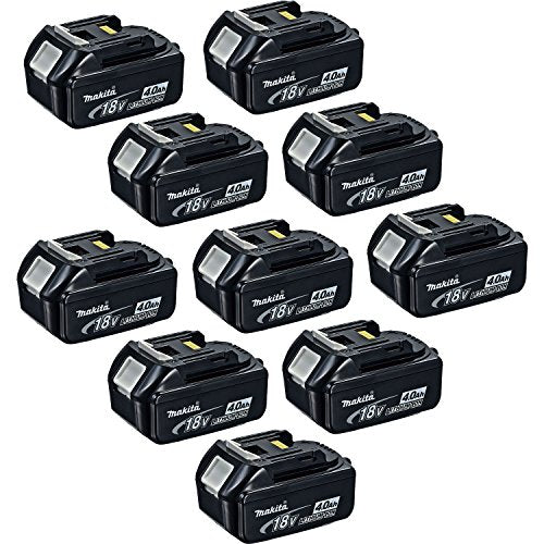 Makita BL1840 18-Volt 4.0 Ah Rechargeable LXT Lithium-Ion Batteries, 10-Pack