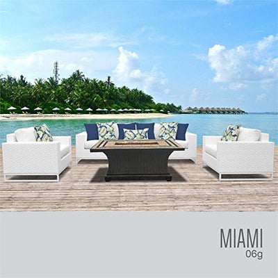 TK Classics MIAMI-06g Miami Seating Outdoor Furniture, Sail White