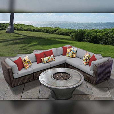 TK Classics VENICE-07i-GREY Venice Seating Patio Furniture, Grey