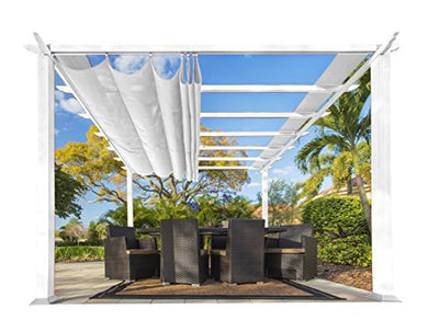 Paragon Outdoor PR11WTW Backyard Structure Soft Top with White Frame Aspen Pergola, 11' x 11', Off