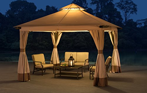 Sunjoy 12'X12' Santa Barbara Softtop Gazebo with Netting