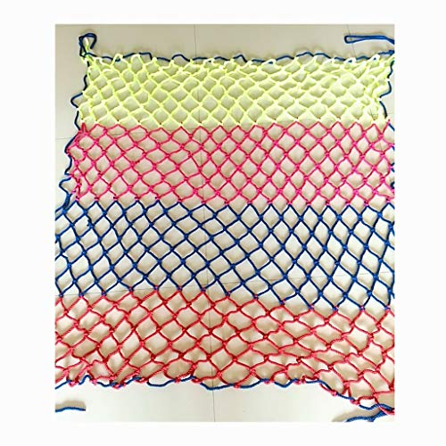 Color Decorative Net, Anti-Fall Net Hand-Knitted Kindergarten School Playground Playground Garden Restaurant Ceiling Railing Protective Net, Grid 6mm 8cm (Size: 1 6m) (Size : 49M)