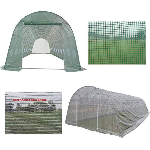 DELTA Canopies Green Garden Hot House Walk In Greenhouse 33'x13' + Sun Shade Cover