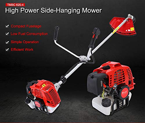 Gasoline Lawn trimmer Lawn Mower 2-Stroke 2.2KW Side-Mounted Grass String Trimmer Pruning Cutter Garden Tools