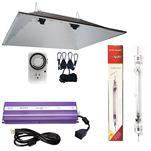 HydroplanetTM Double Ended XXL Reflectors Hood Hydroponic Grow Lights Kit DE Reflector Hood With Dimmable Digital Ballast HPS LAMPS Horticulture Plant Grow System Set¡­
