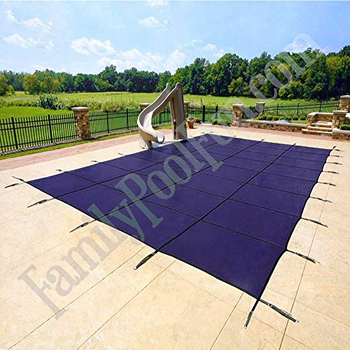 16'x32' Blue Mesh - Rectangle Inground Safety Pool Cover - 15 Year Warranty - 16 ft x 32 ft In Ground Winter Cover