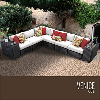 TK Classics VENICE-08a-WHITE Venice Seating Outdoor Furniture, Sail White