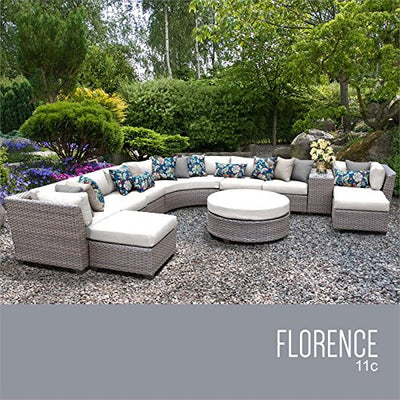 TK Classics FLORENCE-11c-WHITE Florence Seating Outdoor Furniture, Sail White