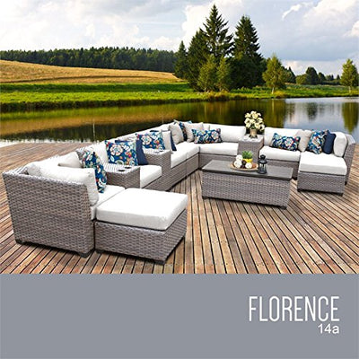 TK Classics FLORENCE-14a-WHITE Florence Seating Outdoor Furniture, Sail White