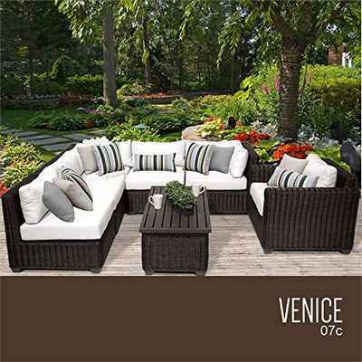 TK Classics VENICE-07c-WHITE Venice Seating Outdoor Furniture, Sail White