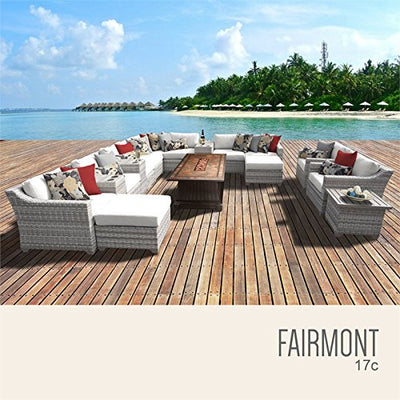 TK Classics FAIRMONT-17c-WHITE Fairmont Seating Outdoor Furniture, Sail White