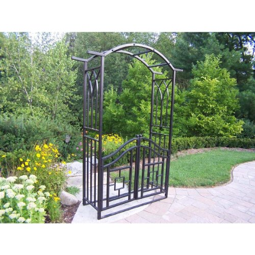 Oakland Living Royal Arbor with Gate, Black
