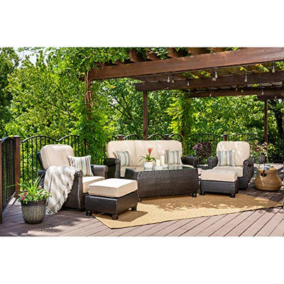 La-Z-Boy Outdoor ABRE-6PC-SRL-SFA-CT-ST-N Outdoor Furniture Set, Natural Tan