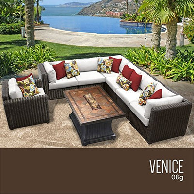 TK Classics VENICE-08g-WHITE Venice Seating Outdoor Furniture, Sail White