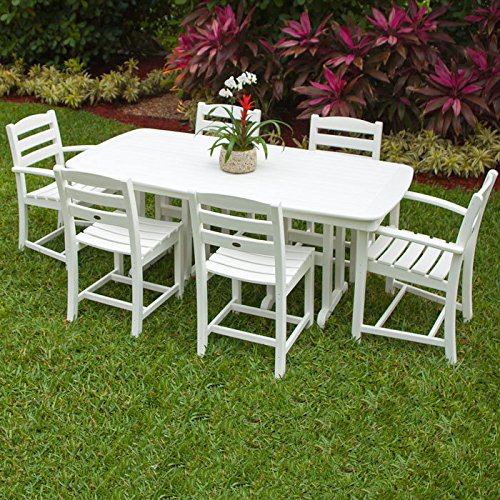 POLYWOOD Park Harvester Picnic Table Finish: White