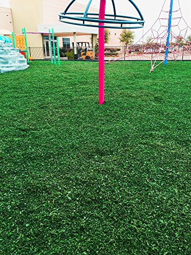 Colored Bulk Rubber Mulch for Playgrounds and Swing Sets [2000 Lbs] Recycled Tire Rubber Surfacing for Outdoor Safety - Eco-Friendly, Easy to Install and Incredibly Durable (Green)