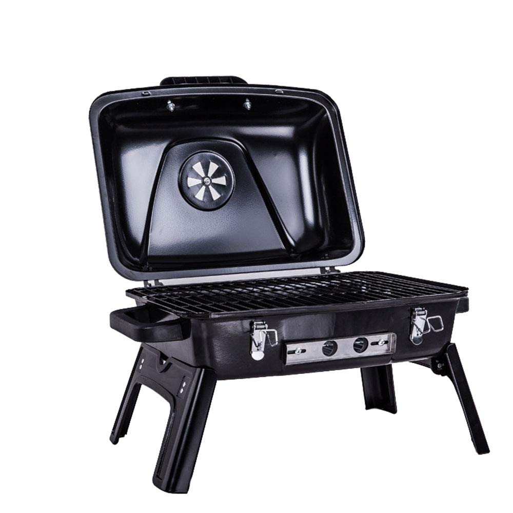 ShurndGao Charcoal BBQ Grill Outdoor Household Folding Portable Charcoal Grill Enamel Grill Adjustable Grill Foldable Outdoor Barbecue Grill