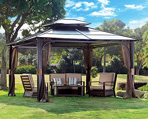 CoastShade 10 x 12 Heavy Duty Galvanized Steel Hardtop Wyndham Patio Gazebo