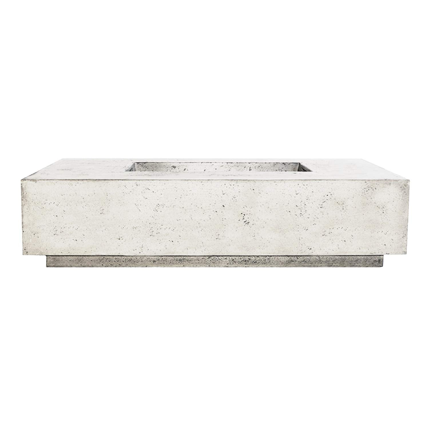 Prism Hardscapes Tavola 4 Electronic Ignition Concrete Gas Fire Pit (PH-408-5LP-WBECS), Propane, Ultra White, 66x38-Inch
