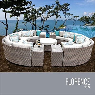 TK Classics FLORENCE-11b-WHITE Florence Seating Outdoor Furniture, Sail White