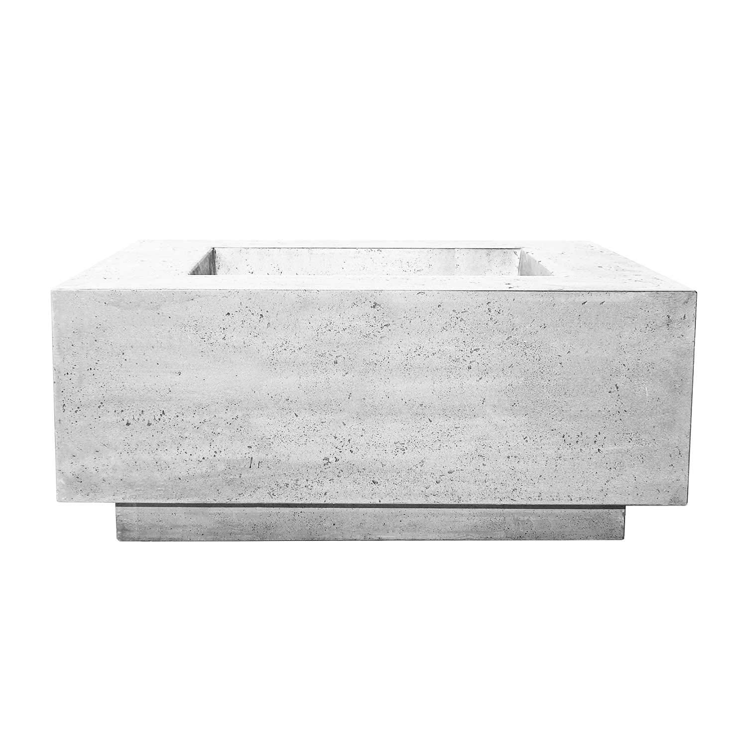 Prism Hardscapes Tavola 42 Electronic Ignition Concrete Gas Fire Pit (PH-427-5NG-WBECS), Natural Gas, Ultra White, 42x42-Inch