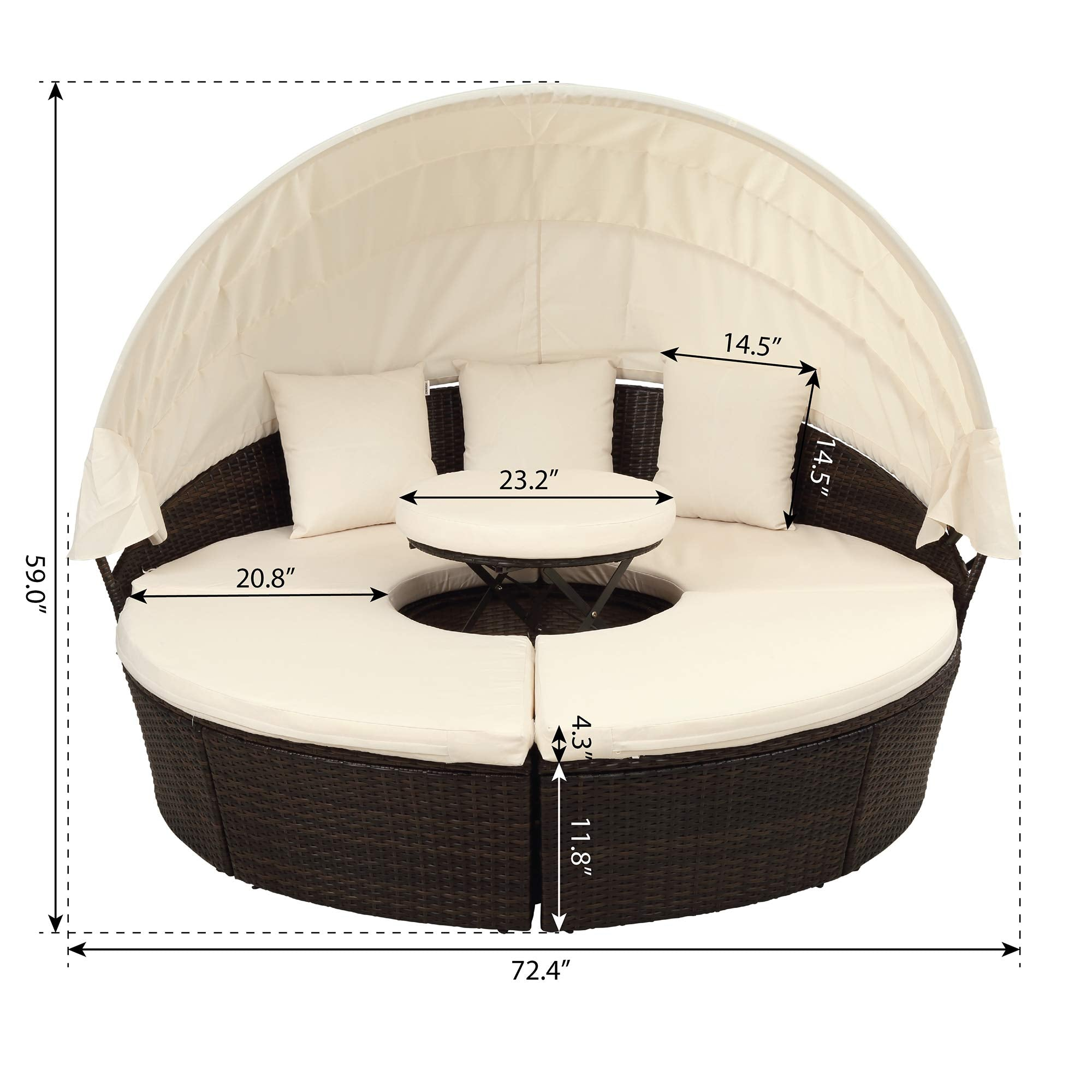 LZ LEISURE ZONE Outdoor Patio Furniture Sets, All-Weather ...