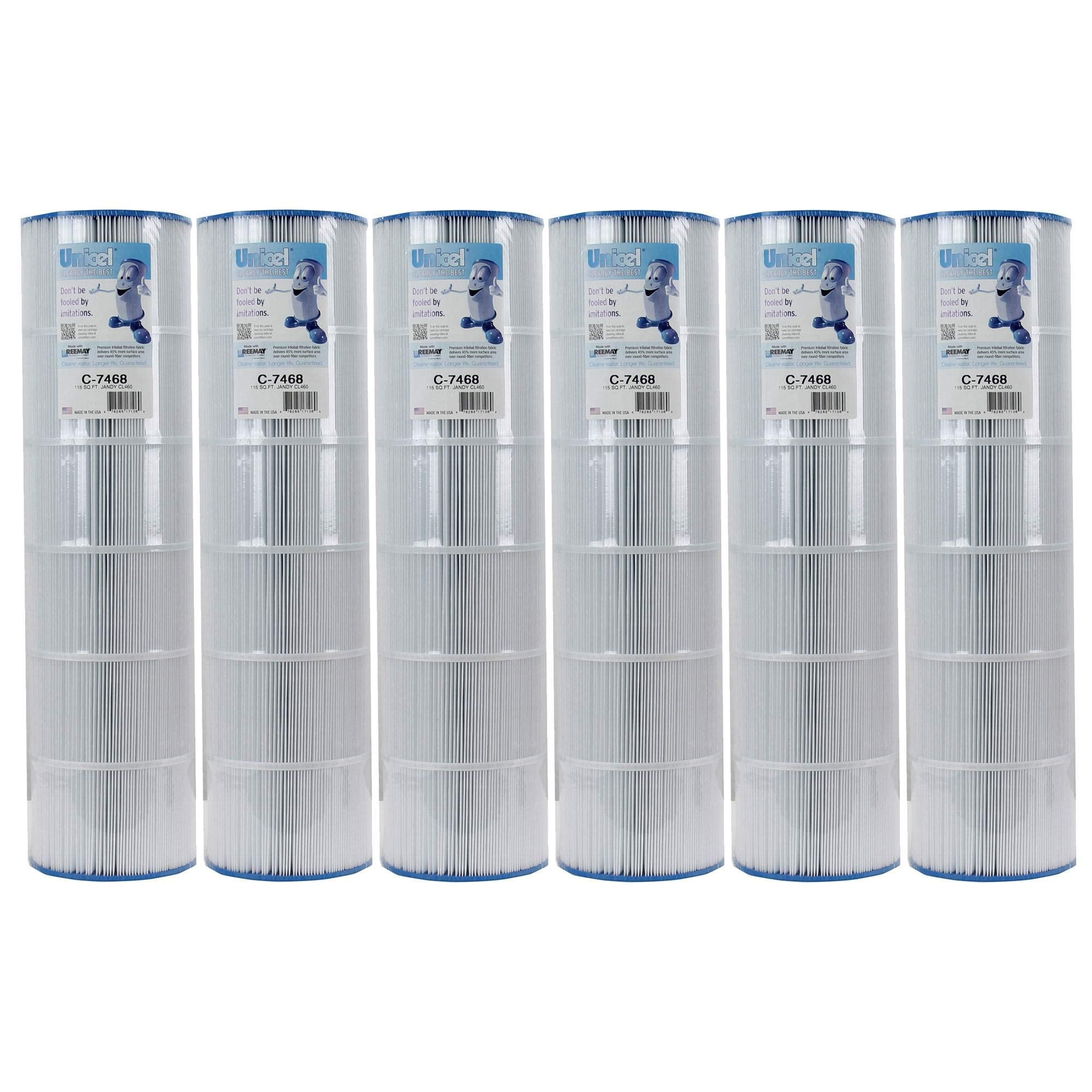 Unicel C-7468 FC-0810 Swimming Pool Filter Replacement Cartridge CL460 (6 Pack)