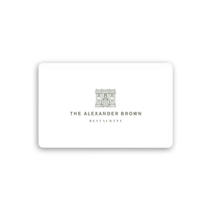 The Alexander Brown Restaurant Gift Card