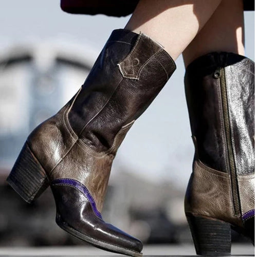 Women's shoes vintage handmade high heel boots