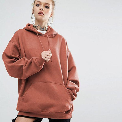 Pullover Warm Loose Women Hoodies Sweatshirt