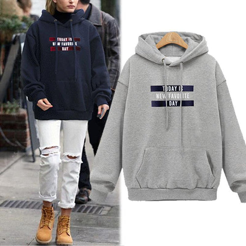 Fashion Loose Printed Hoodie