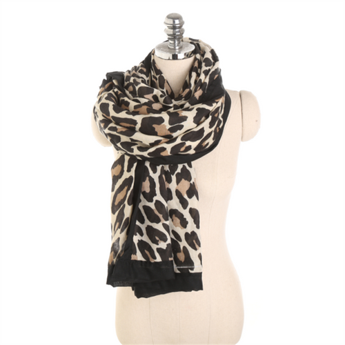 Fashion Autumn And Winter Leopard Pattern Wild Wild Cotton Scarf