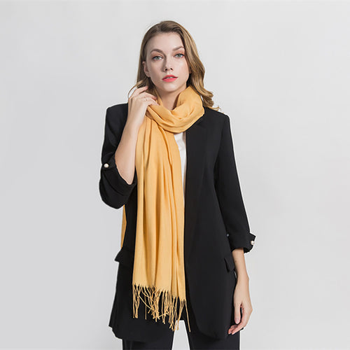 Cashmere tassels and warm scarves