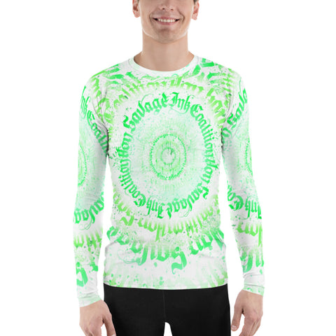 BlackLetterRitual Calligrafitti Key Lime Men's Rash Guard