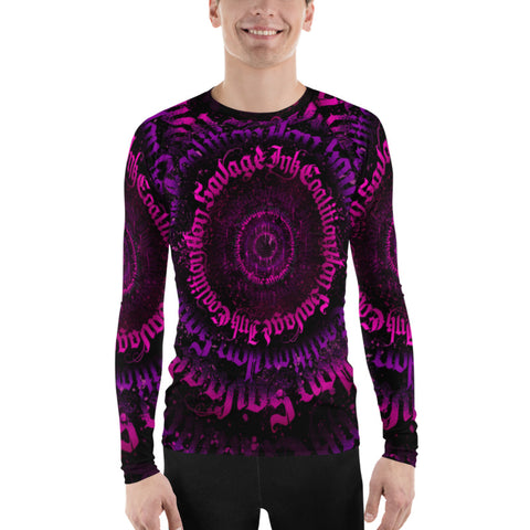 BlackLetterRitual Calligrafitti Pink/Purp Men's Rash Guard