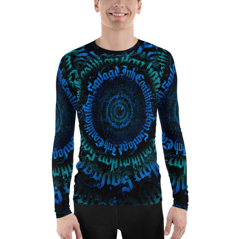 BlackLetterRitual Calligrafitti Midnight Men's Rash Guard