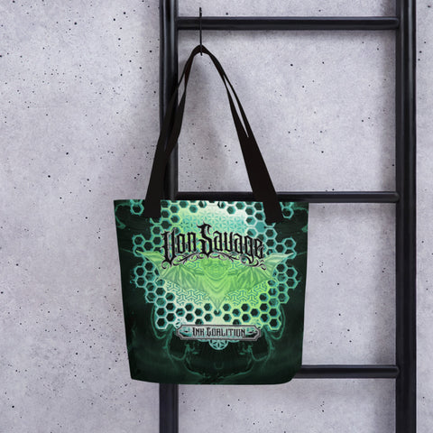 Adam O'Brien Green Bat Tote bag