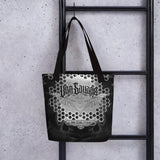 Adam O'Brien Black and Grey Bat Tote bag