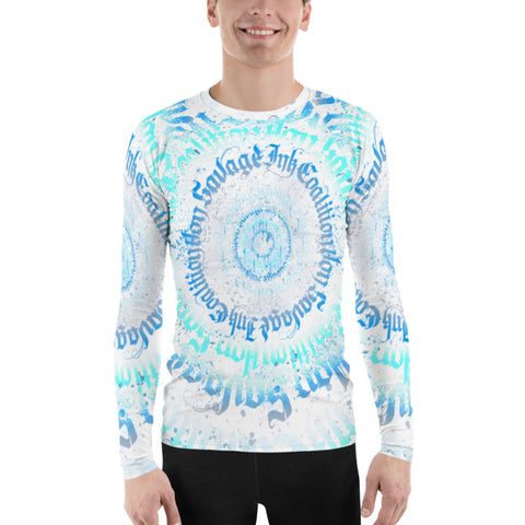 BlackLetterRitual Calligrafitti Frost Men's Rash Guard