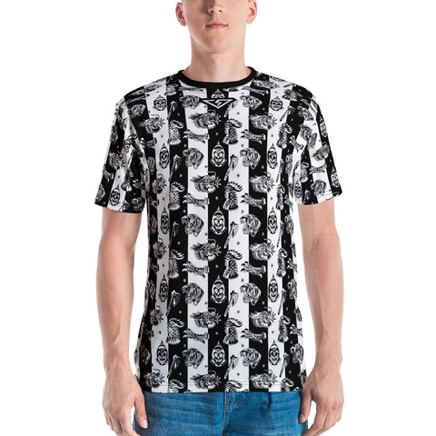 Savage Pattern Striped Men's T-shirt