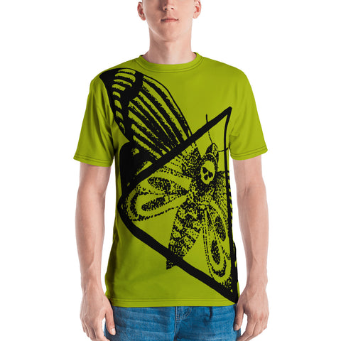 Tim Harden Dead Head Moth NT Green Men's T-shirt