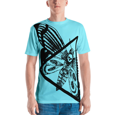 Tim Harden Dead Head Moth Cyan Men's T-shirt