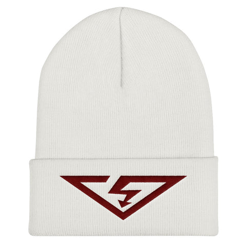 VS Logo Maroon Threads Cuffed Beanie