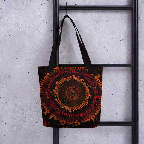 BlackLetterRitual Calligrafitti Rage Tote bag