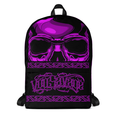 G2GBay SKULL FACE Pink Backpack