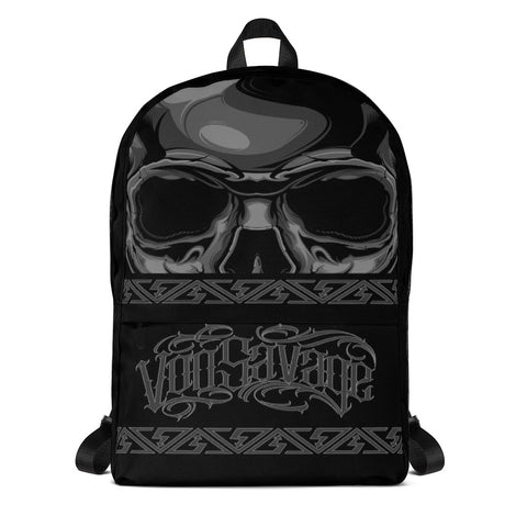 G2GBay SKULL FACE Black and Grey Backpack